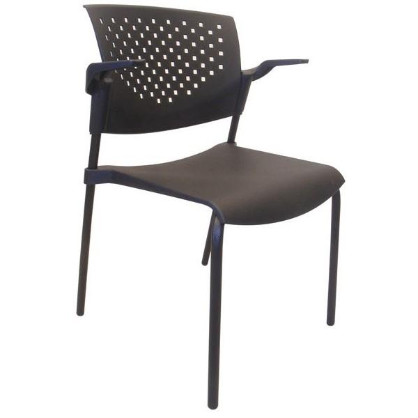 Alice 2 c brazos asiento y respaldo tapizados for Sillas para visitas
