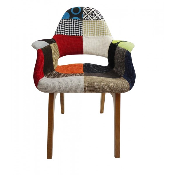 Sitial patchwork estilo organic multicolor 1150 for Sillas modernas chile