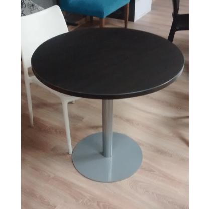 Mesa estandar laminada negra base disco