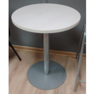 Mesa estandar laminada base disco blanca
