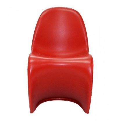 Silla estilo Panton roja 1115