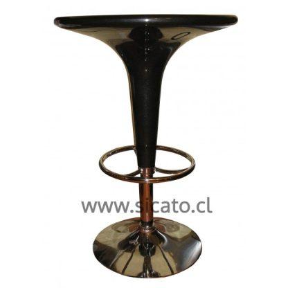 mesa taburete regulable negra