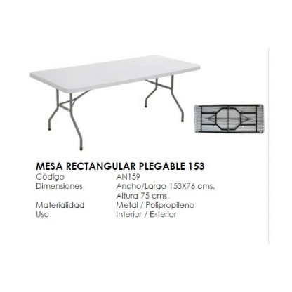 MESA PLEGABLE RECTANGULAR