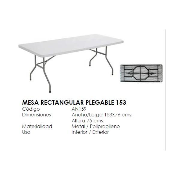 Mesa plegable rectangular for Mesa plegable medidas