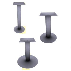 bases pilares mesas
