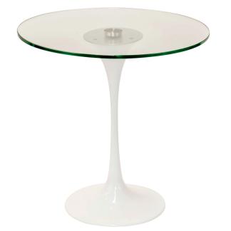 Mesa de vidro, blanco lateral