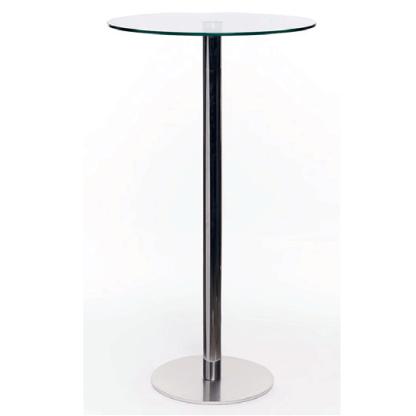 mesa alta de vidrio modelo para tomar cafe