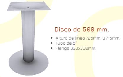 Pedestal base de 500