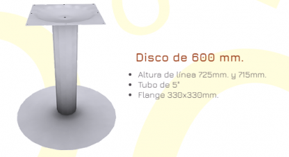 Pedestal base de 600