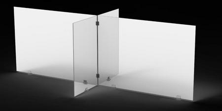Kit de pantallas protectoras de acrílico para mesas