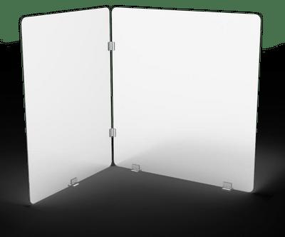 Pantalla protectora L, confeccionada en acrílico de 4mm