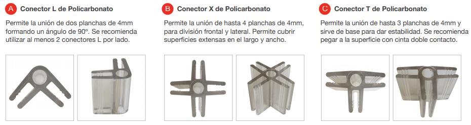 conectores de policarbonatos